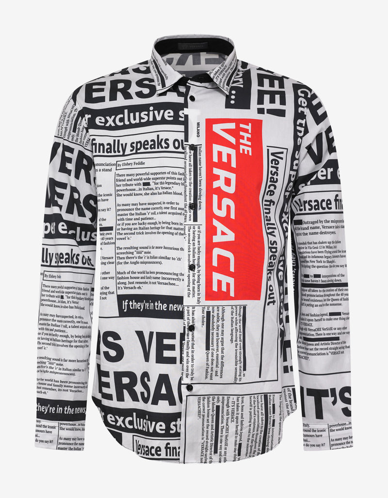 Tabloid Print Shirt