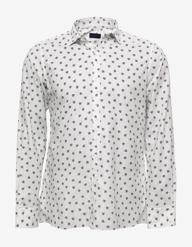 Lanvin Off-White Spider Print Shirt
