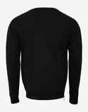 Black Textured Logo Sweatshirt