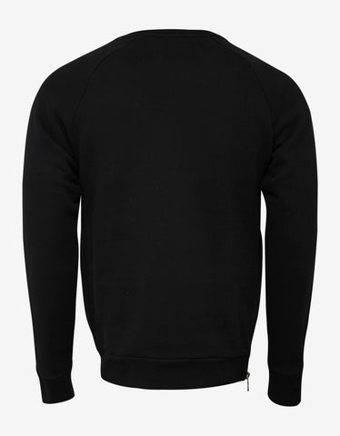Balmain Black Textured Logo Sweatshirt