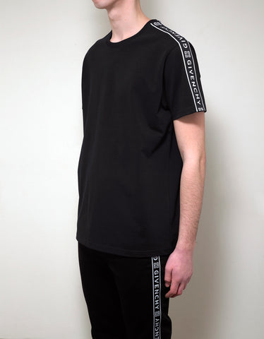 Givenchy Black 4G Logo Band T-Shirt