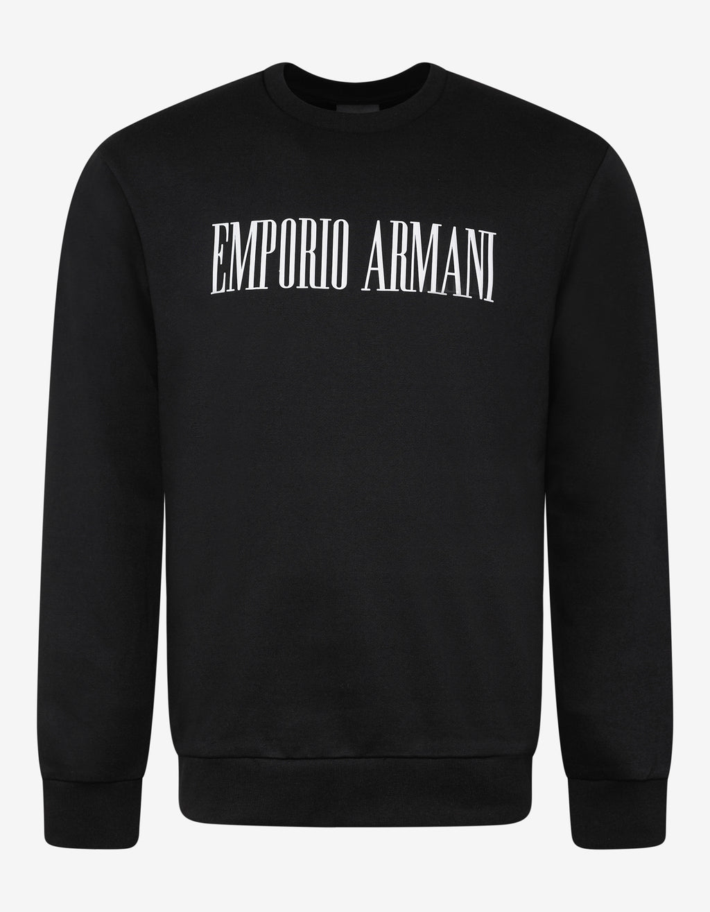 Black Text Print Sweatshirt