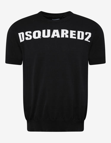 Dsquared2 Black Logo Knitted T-Shirt