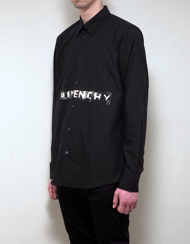 Givenchy Black Faded Logo Shirt