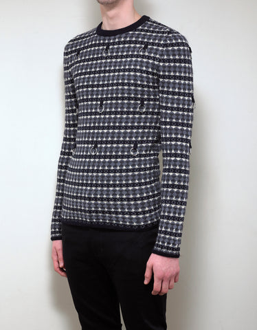 Raf Simons Fair Isle Jacquard Sweater with Rings