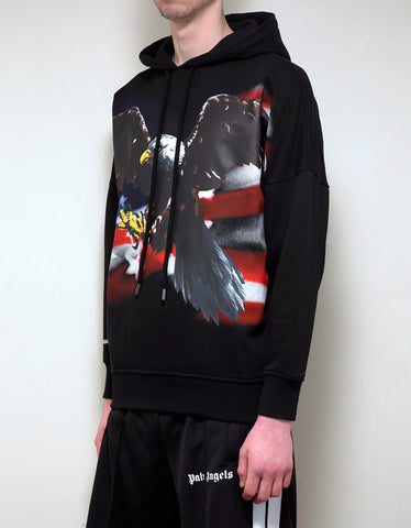 Palm Angels Eagle Print Oversized Hoodie
