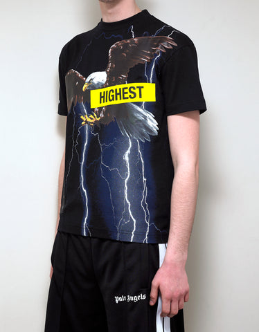 Palm Angels Black Storm Print T-Shirt