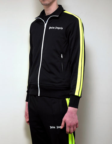 Palm Angels Black Contrast Stripes Track Jacket