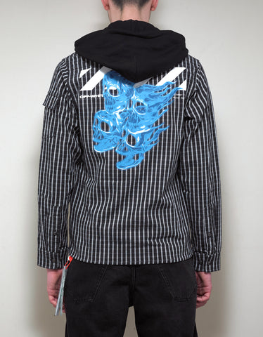Off-White Striped Hoodie Shirt
