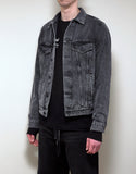 Wash Black Arrows Panel Insert Denim Jacket