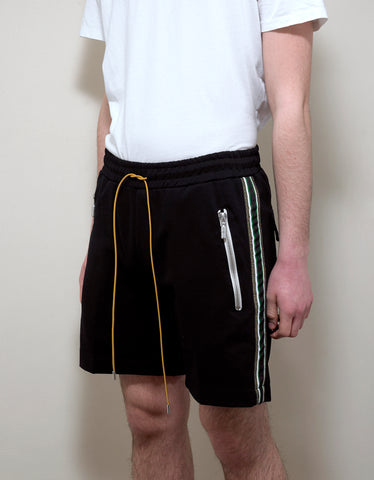 Rhude Black Traxedo Shorts with Trim