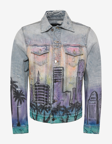 Amiri Airbrush Hollywood Trucker Jacket