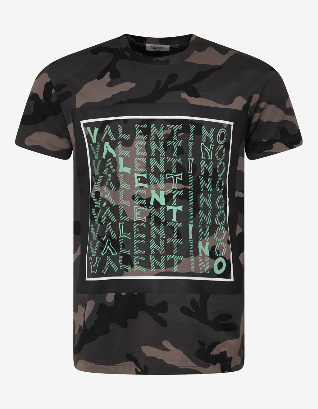 Green Camo V For Valentino T-Shirt