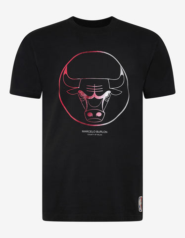 Marcelo Burlon Black Chicago Bulls Logo T-Shirt