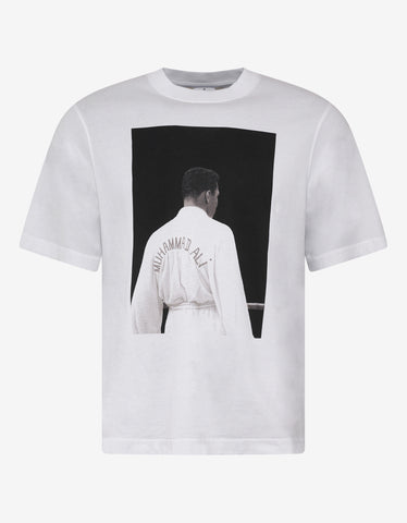 Marcelo Burlon White Ali Back Oversized T-Shirt