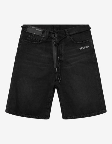 Off-White Vintage Black Denim Shorts