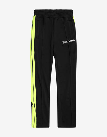 Palm Angels Black Contrast Stripes Track Pants
