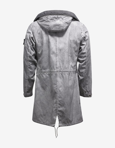 Stone Island Shadow Project Raso-R 3L Grey Over Dyed Parka