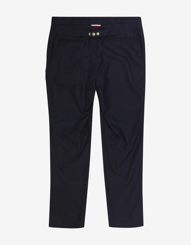 Moncler Gamme Bleu Navy Blue Wool Flannel Trousers