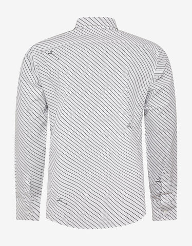 Givenchy White Striped Logo Shirt