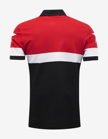 Givenchy Red & Black Cuban Polo T-Shirt with Stars