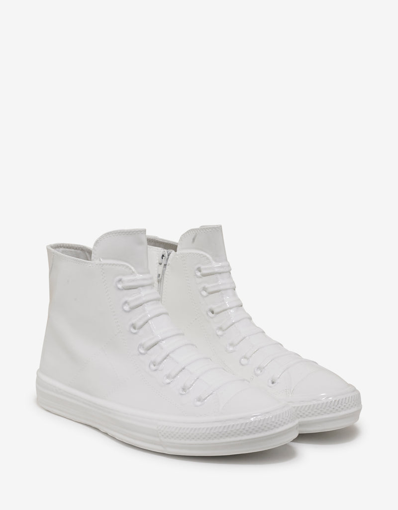 White Coated High Top Trainers