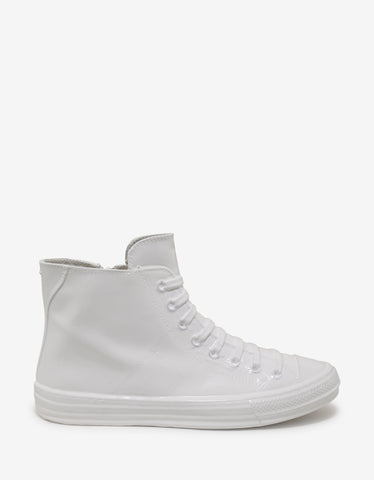 Maison Margiela White Coated High Top Trainers