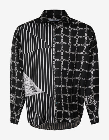 Givenchy Multi-Graphic Silk Shirt