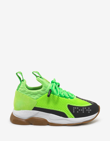 Versace Green Cross Chainer Trainers