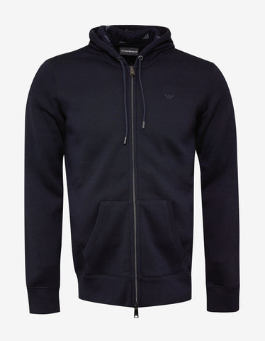 Emporio Armani Navy Blue Eagle Logo Hooded Tracksuit