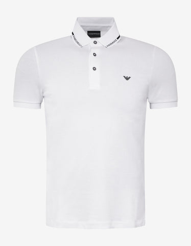 Emporio Armani White Eagle Embroidery Polo T-Shirt
