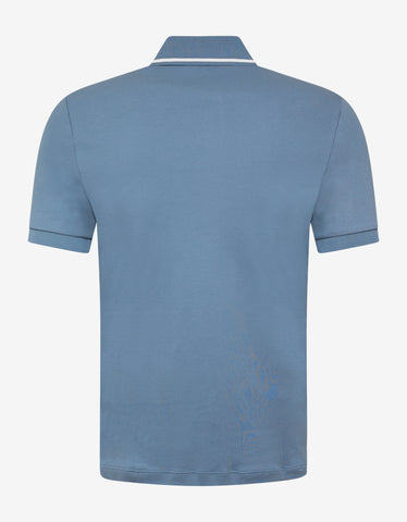 Emporio Armani Sky Blue Eagle Embroidery Polo T-Shirt