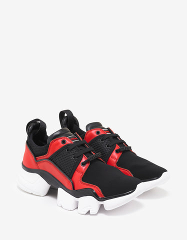 Givenchy Black & Red Jaw Trainers
