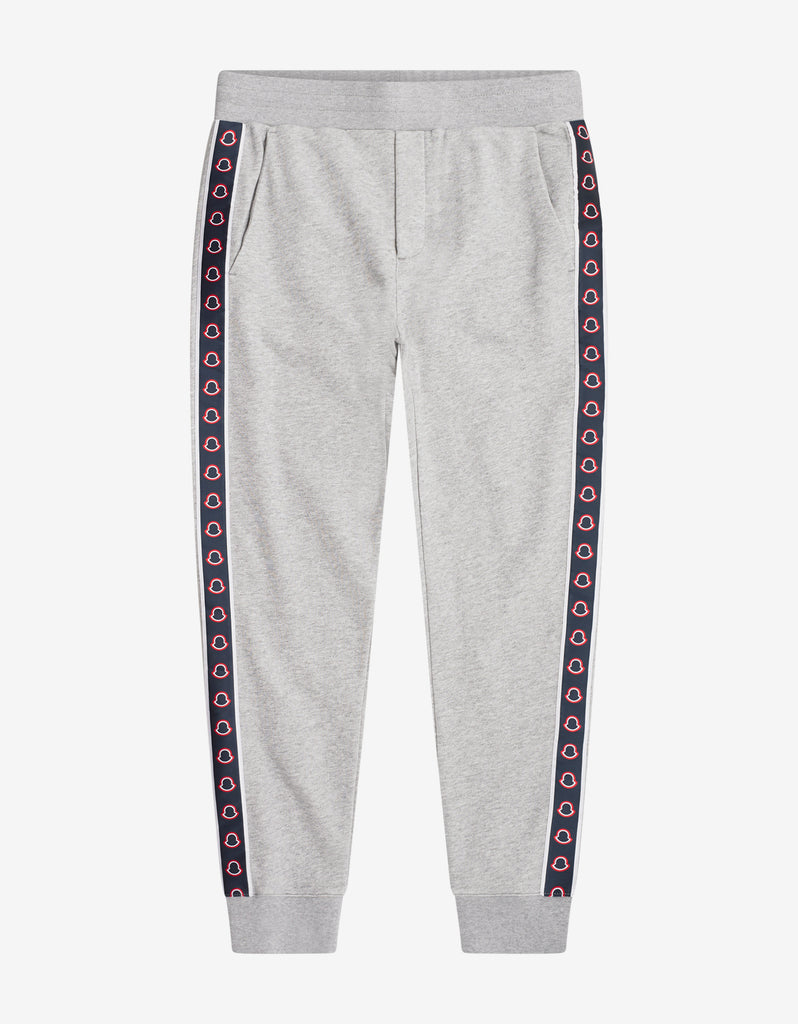 b8aeb73feb5472 Moncler Grey Logo Tape Sweat Pants – ZOOFASHIONS.COM