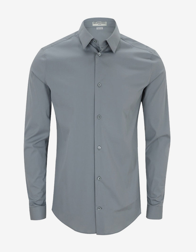 Grey Fitted Shirt