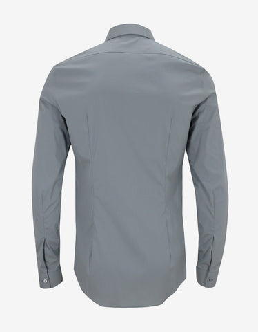 Balenciaga Grey Fitted Shirt
