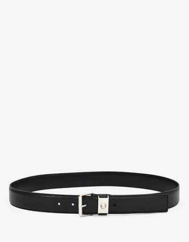 Balenciaga Black Arena Leather Belt