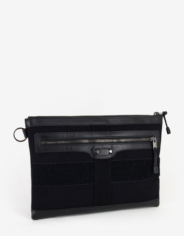 Balenciaga Black Canvas Document Holder