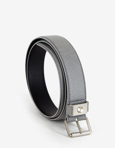Balenciaga Gris Nuage Arena Leather Belt