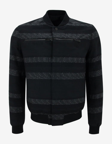 Balenciaga Black Multi-Fabric Bomber Jacket