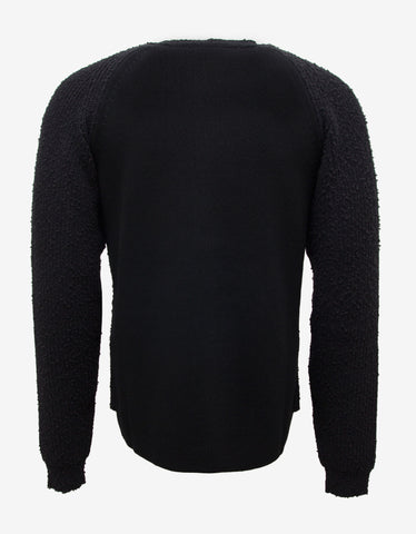 Balenciaga Black Button Front Cardigan