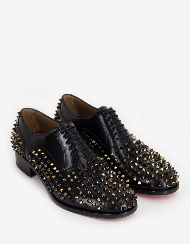 d29ea53f1198 Christian Louboutin Bruno Spikes Flat Oxford Shoes – ZOOFASHIONS.COM