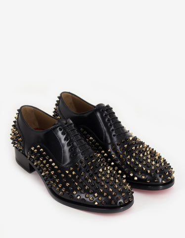Christian Louboutin Bruno Spikes Flat Oxford Shoes