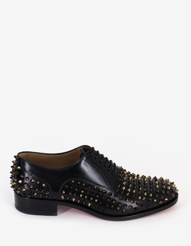 3c932e1b3041 Christian Louboutin Bruno Spikes Flat Oxford Shoes Christian Louboutin  Bruno Spikes Flat Oxford Shoes