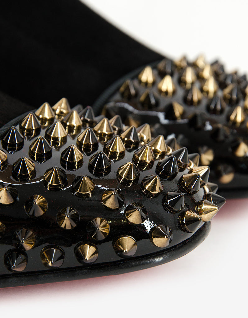 Spooky Suede Leather Spikes Loafers