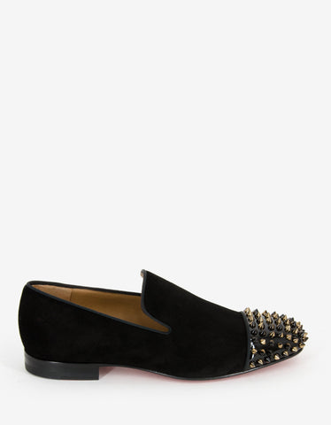 Christian Louboutin Spooky Suede Leather Spikes Loafers