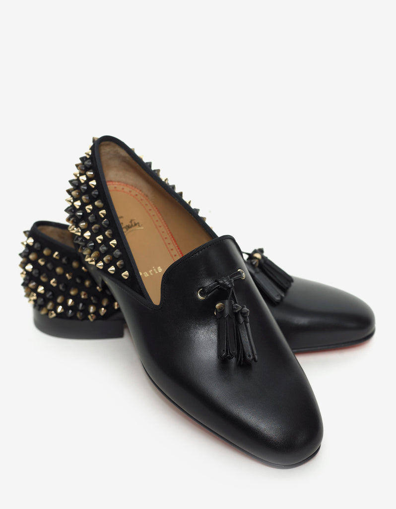 Tassilo Flat Calf & Suede Spikes Loafers