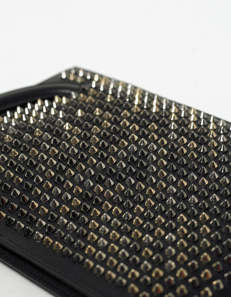 Trictrac Black Leather Spikes Portfolio
