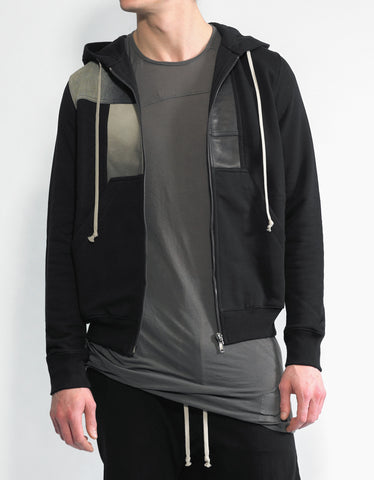 DRKSHDW by Rick Owens Jason Black Patch Hoodie