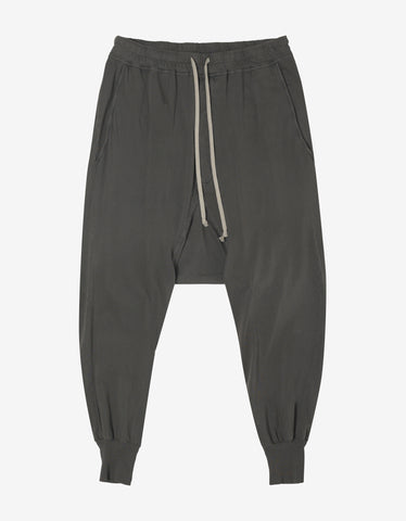 DRKSHDW by Rick Owens Prisoner Drawstring Darkdust Grey Lightweight Sweat Pants